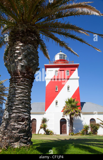Mouille Point Lighthouse - Cape Town - Stock Image