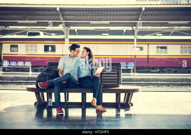 Couple Travel Destination Journey Togetherness Concept - Stock Image