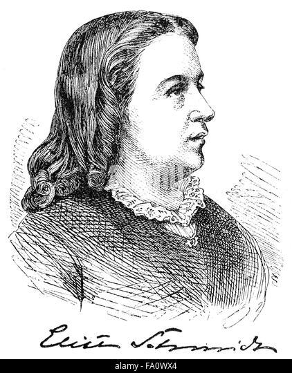 Elise Schmidt, 1827-1911, a German writer and actress, - Stock-Bilder