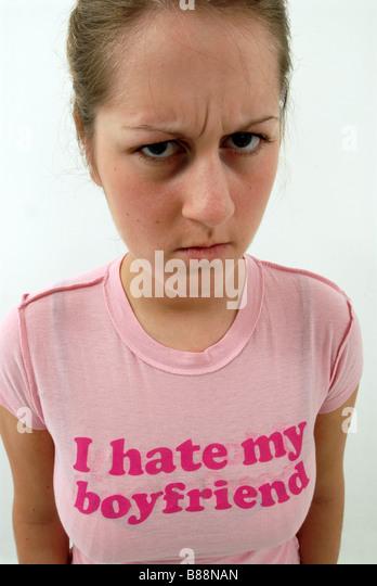 I hate my boyfriend - Stock Image