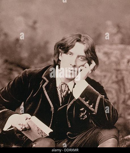 Oscar Wilde, Irish born playwright and wit, 1882. Artist: Unknown - Stock Image