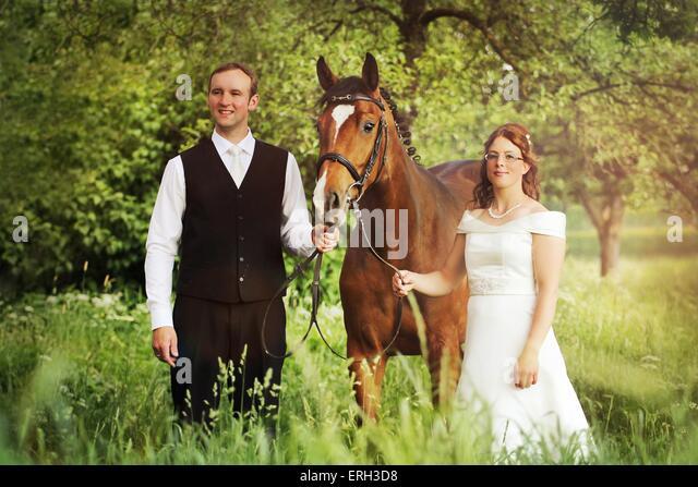newlyweds and warmbood - Stock Image