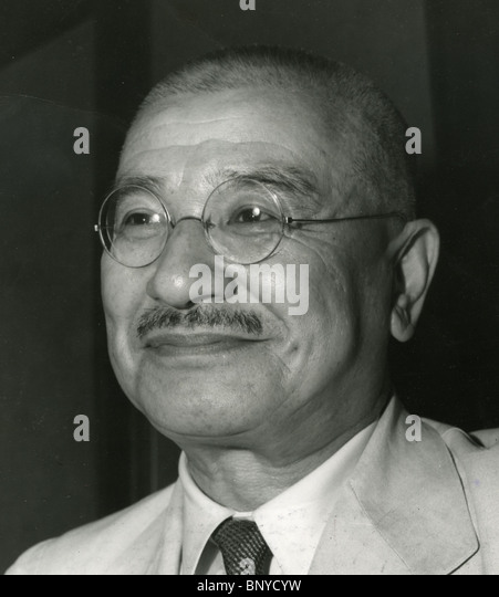 NOBUYUKI ABE (1875-1953) As a General in the Imperial Japanese Army  shortly before becoming Prime Minister of Japan - Stock Image