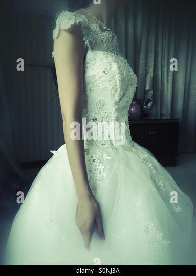 Bride wedding dress - Stock Image