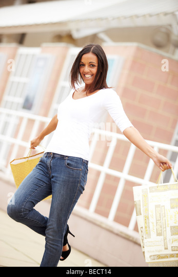 Woman shopping - Stock-Bilder