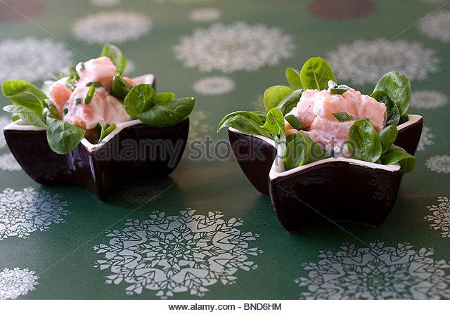 Coconut milk salmon - Stock Image