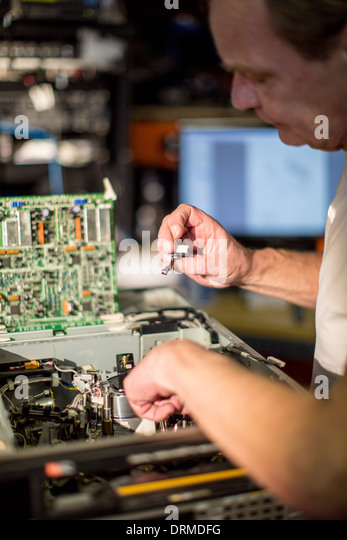 technology engineer work profession work job - Stock Image