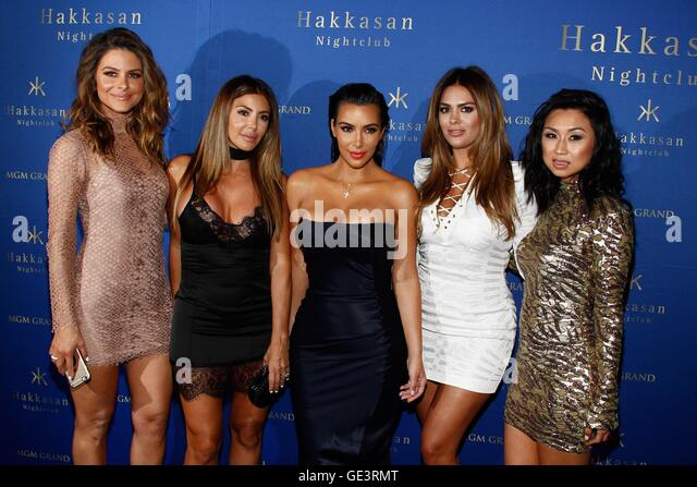 Las Vegas, NV, USA. 22nd July, 2016. Maria Menounos, Larsa Pippen, Kim Kardashian West, Carla DiBello, Jeannie Mai - Stock-Bilder