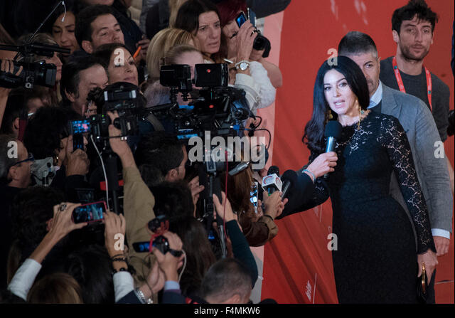 Rome, Italy. 20th Oct, 2015. Monica Bellucci attends a red carpet for 'Ville-Marie' during the 10th Rome - Stock Image