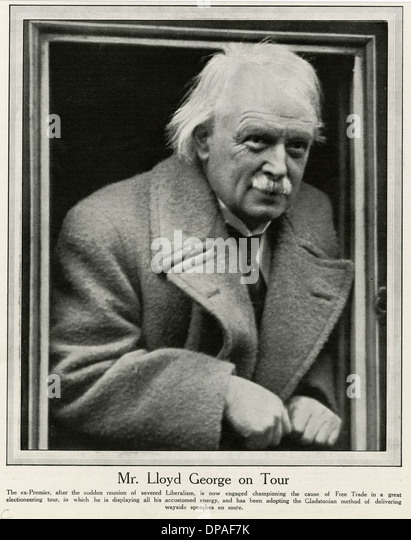 LLOYD GEORGE IN 1923 - Stock Image