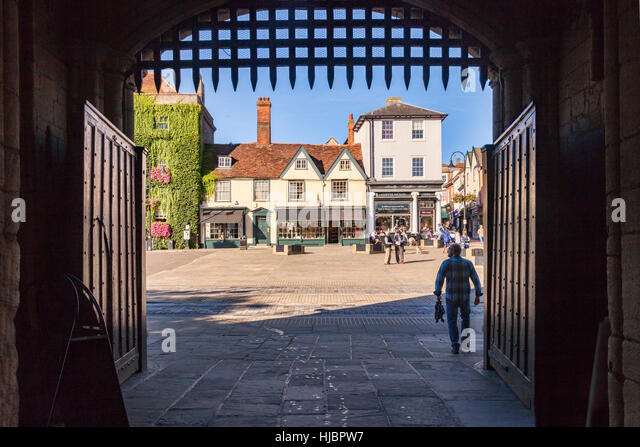 Bury St Edmunds town centre, Suffolk, England, UK - Stock Image