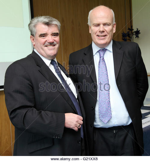 L) Doug Mahoney, West Midlands Trade  Director of UKTI and Mark Berrisford Smith of HSBC. - Stock Image
