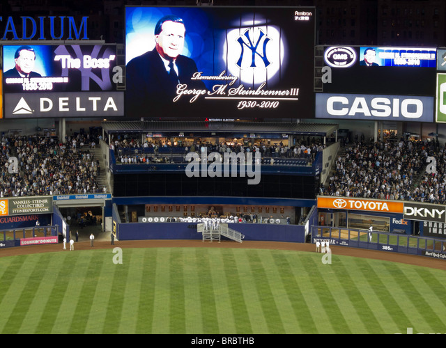 'Yankee Stadium, Dedication of George M. Steinbrenner's Plaque' - Stock Image
