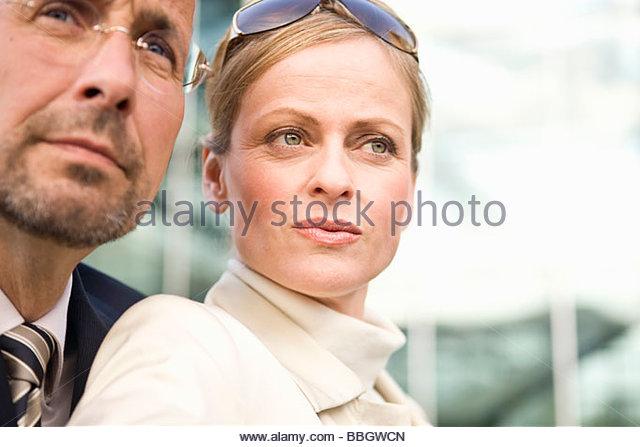 Portrait mature adult couple, Munich, Germany - Stock Image