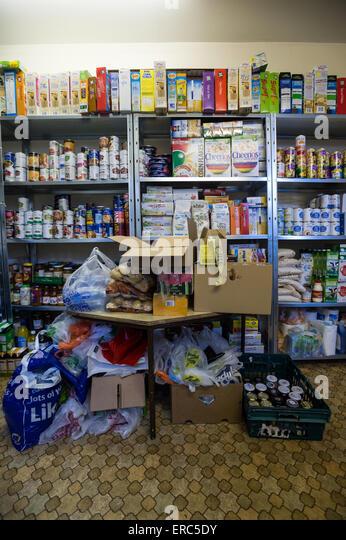 Food bank in Barnsley - Stock Image