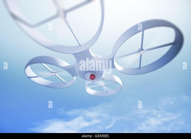 Close up of a UAV quadrocopter - Stock-Bilder