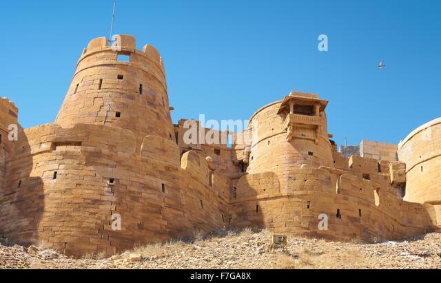 External view of Jaisalmer Fort, Jaisalmer, Rajasthan, India - Stock-Bilder