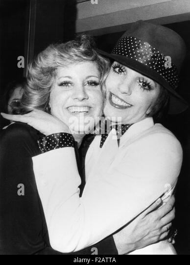 Liza Minnelli (right) and her half-sister Lorna Luft, both daughters of Judy Garland. Jan. 6, 1974. They were at - Stock Image