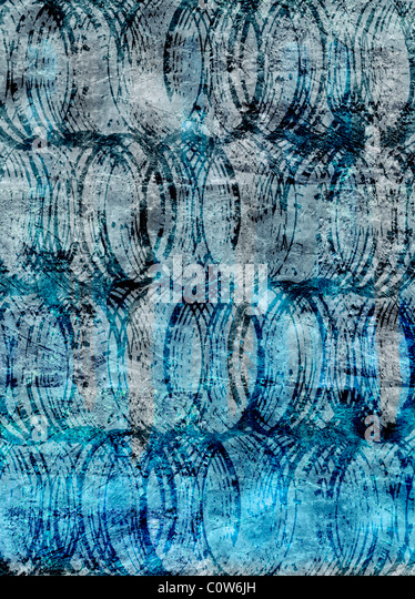 Circles on Blue Backgrounds - Stock-Bilder
