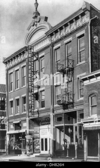 New Plainfield Theatre, Plainfield, NJ, circa 1906 - Stock-Bilder