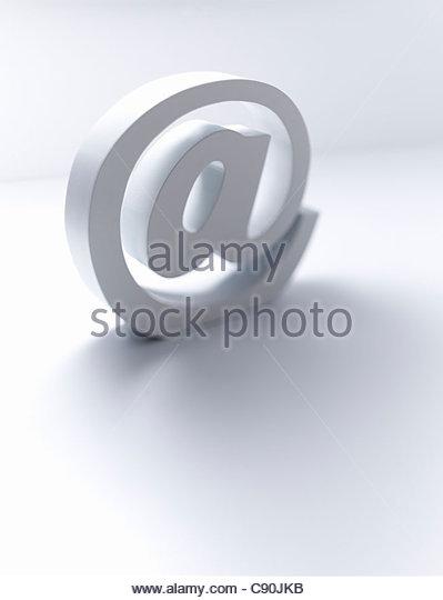Sculpture of ë@' symbol - Stock-Bilder