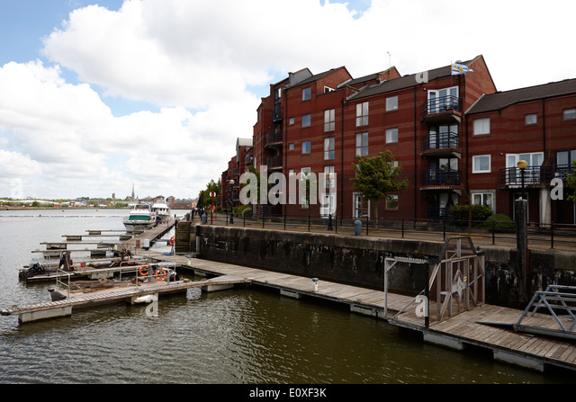 princes reach in edward albert dock in Riversway Preston docklands marina England UK - Stock Image