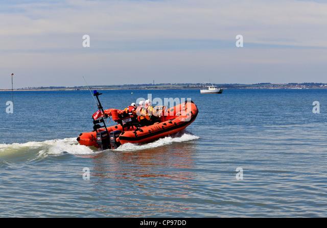 3915. RNLI Lifeboat launching, Whitstable, Kent, UK - Stock Image