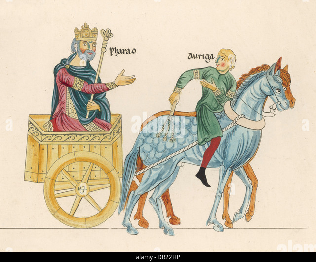 KING IN CHARIOT - Stock Image