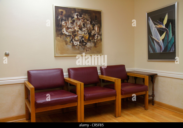 Miami Beach Florida Mount Mt. Sinai Medical Center centre hospital health care doctor's office waiting room - Stock Image