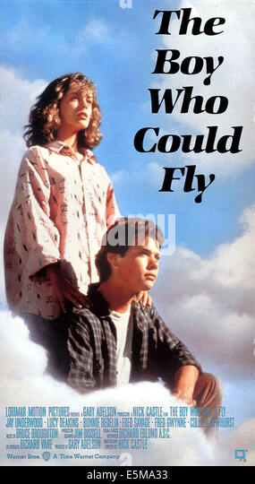 THE BOY WHO COULD FLY, Lucy Deakins, Jay Underwood, 1986 - Stock Image