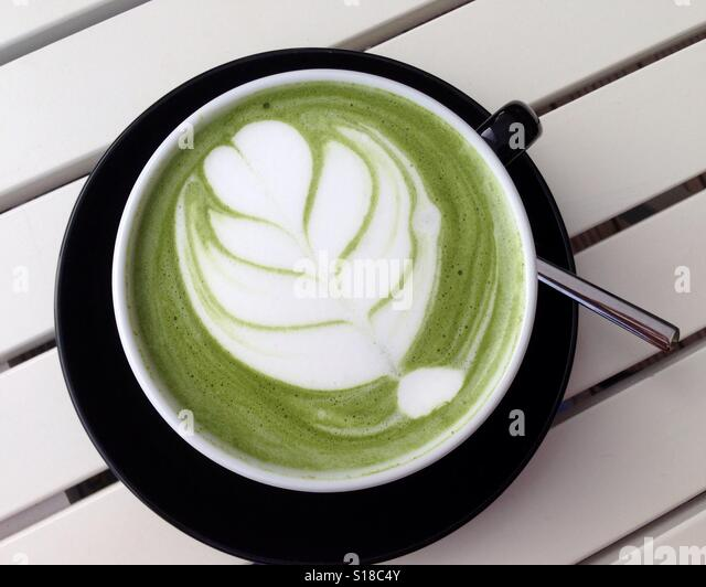 Matcha time - Stock Image