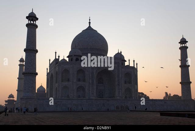 The Taj Mahal, one of the seven wonders of the world - Stock-Bilder