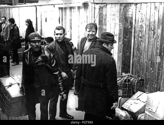 Arrival of foreign workers, Germany, 1972 - Stock Image