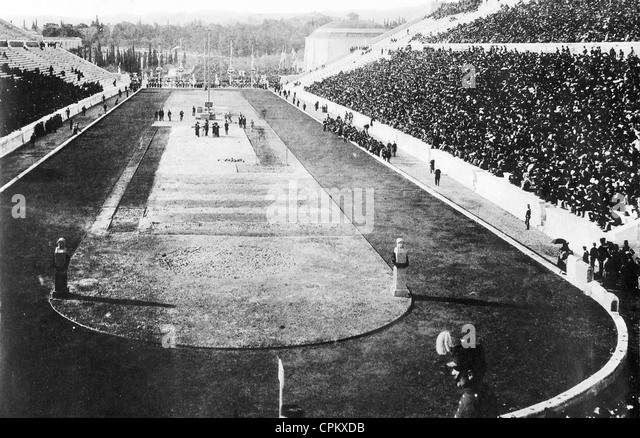 Olympic Games in Athens, 1896 - Stock Image