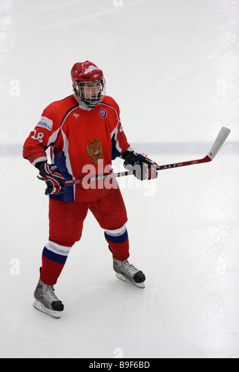 Russian ice-hockey payer No 28 Dmitry Orlov - Stock Image