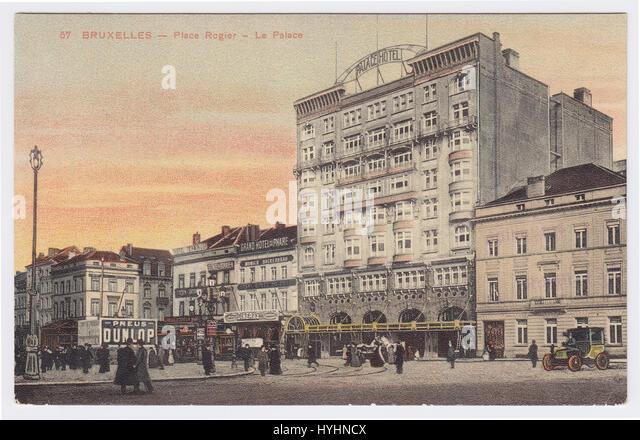 Palace Hotel & Place Rogier, Brussels, Belgium - Stock Image