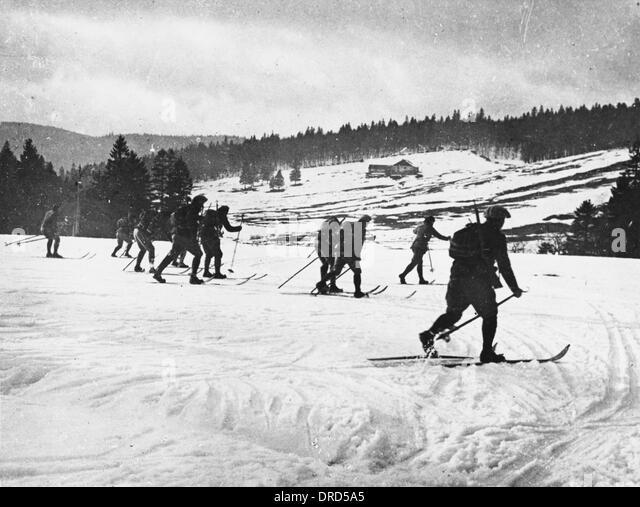 Alpine troops WWI - Stock Image