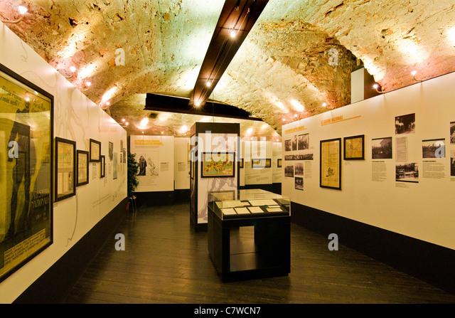 Italy, Trentino Alto Adige, Rovereto, interiors of the War Museum - Stock Image