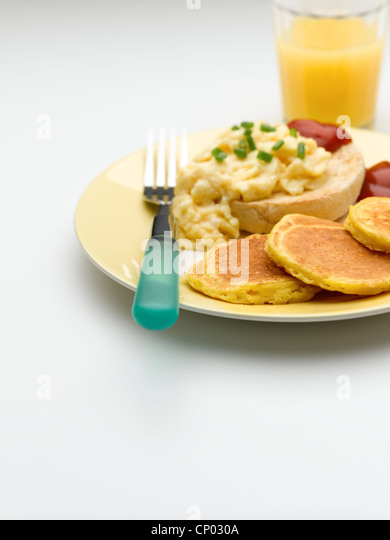 Sweetcorn Pancakes - Stock Image