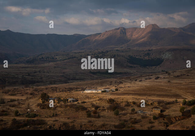 The rural Lesotho highlands. A travel destination in Africa. - Stock Image