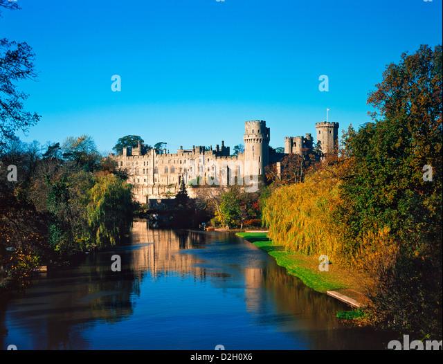 England, Warwickshire, Warwick, Autumn at Warwick Castle - Stock Image