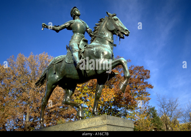 Joan of Arc statue, Washington D.C. - Stock Image