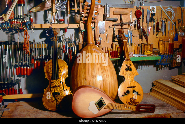 Algeria Handcrafted Ouds Musical Instruments - Stock Image