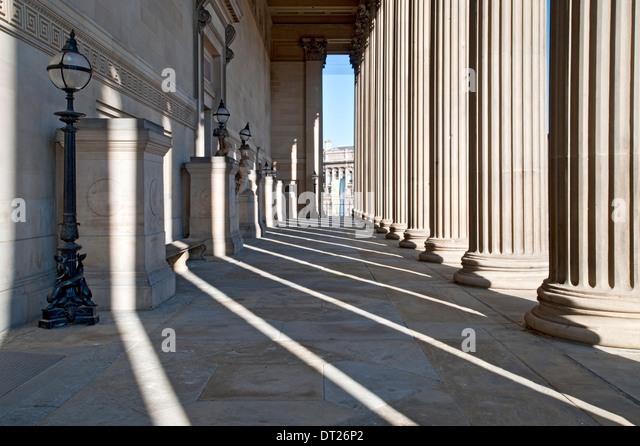 Entrance Gallery to St Georges Hall, Liverpool, Merseyside, England, UK - Stock Image