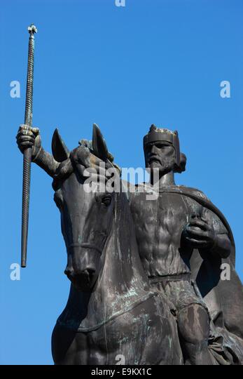 Zagreb sculpture of King Tomislav - Stock-Bilder