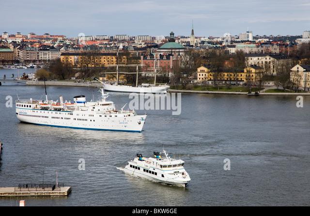 Ships in Stockholm - Stock Image