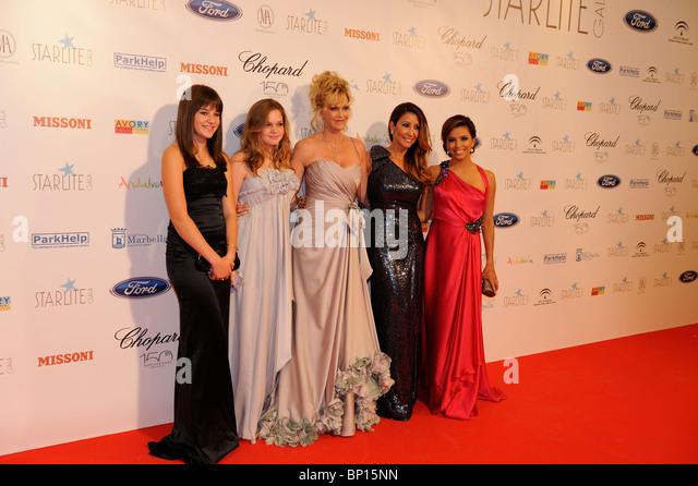 Dakota Johnson, Stella del Carmen Banderas Griffith, Melanie Griffith, Maria Bravo;  Eva Longoria Starliet Gala - Stock Image
