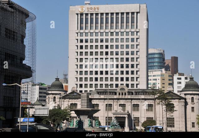 The bank of Korea, Seoul, South Korea - Stock Image