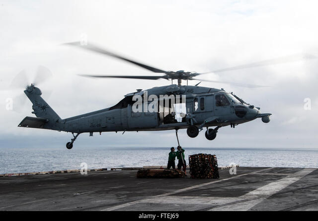 "ATLANTIC OCEAN (Nov. 7, 2014) An MH-60S Sea Hawk, attached to the ""Dragon Whales"" of Helicopter - Stock Image"