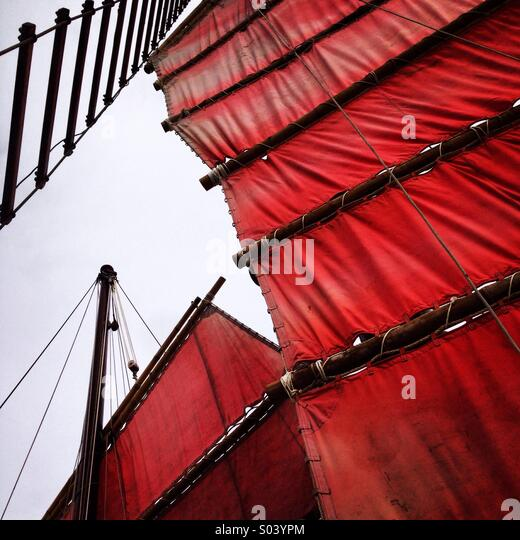 Red sails - Stock Image